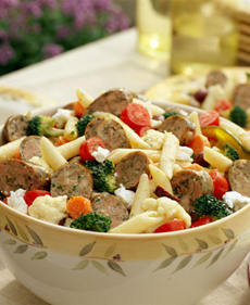 Pasta Salad With Chicken Sausage