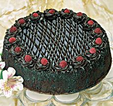 Chocolate Chambord Cake