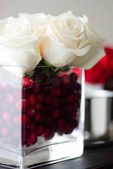 Floral Cranberry Centerpiece