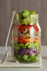 Ball Jar With Salad