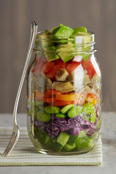 Ball Jar With Salad