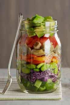 Layered Salad in Mason Jar