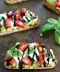 Avocado Toast Caprese