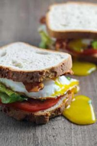 BLT Fried Egg Sandwich