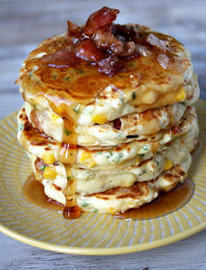 Bacon Corn Griddle Cakes