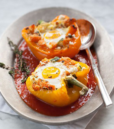 Baked-Eggs-Peppers-FoodieCrush-GoBoldwithbutter-230