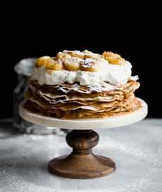 Bananas Foster Crepe Cake Recipe