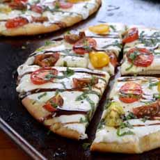 Pizza With Balsamic Glaze