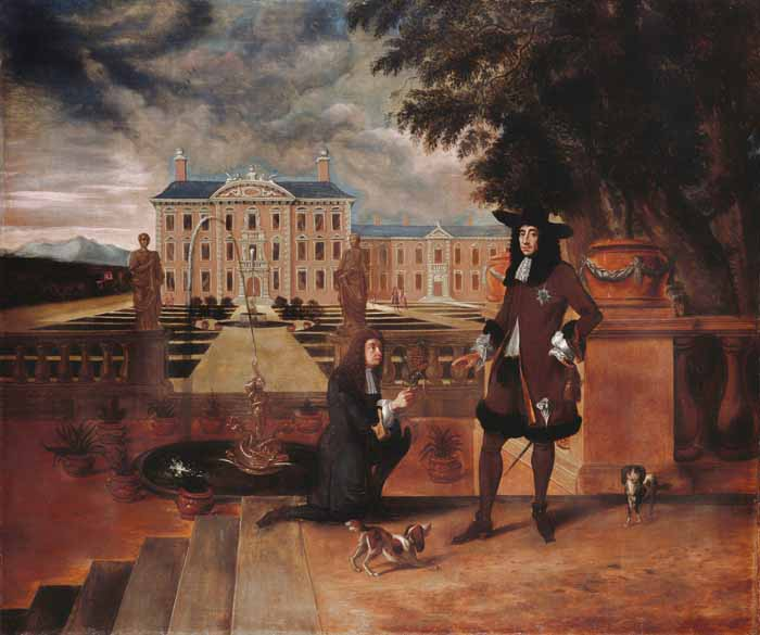 King Charles II With Pineapple Painting