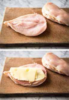 Chicken Cordon Bleu Preparation