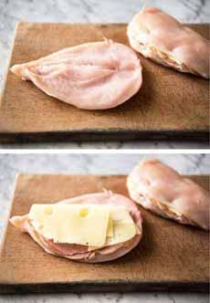 Chicken Cordon Bleu Preparation