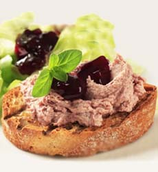 Chicken Liver Crostini With Chutney