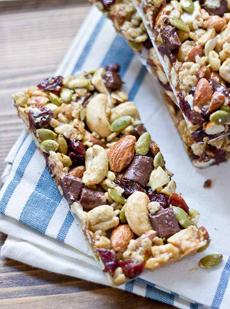 Chocolate Cherry Granola Bars