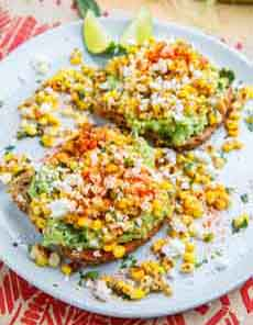 Avocado Toast With Esquites