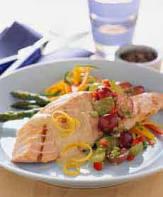 Salmon With Grape Salsa