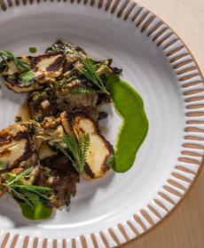 Grilled Halloumi With Chimichurri Sauce