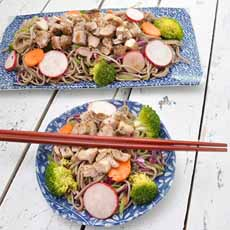 Grilled Chicken & Soba Noodles Recipe