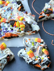 Halloween White Chocolate Bark