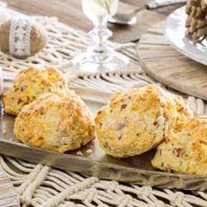 Ham & Cheese Biscuits
