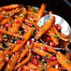 Glazed Carrots With Pomegranate