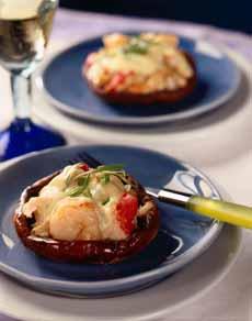 Lobster Stuffed Portobello