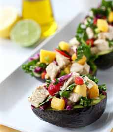 Mango Chicken Salad Stuffed Avocado