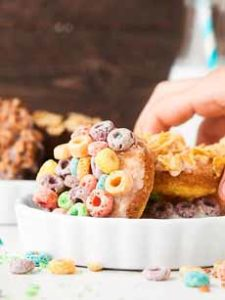 Donuts With Cereal Toppinf