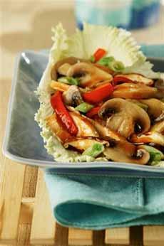 Mushroom & Chicken Teriyaki Lettuce Cups
