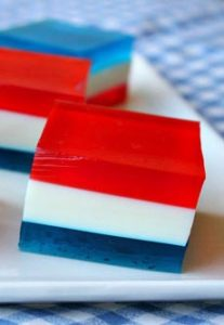 Red, White & Blue Jell-O Squares