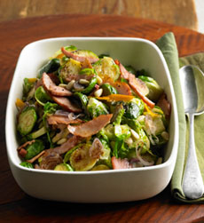 Brussels Sprouts With Frizzled Ham
