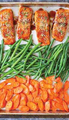 One Pan Baked Salmon Dinner