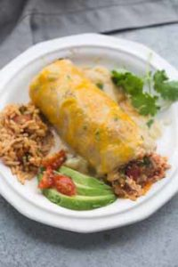 Green Chili Chicken Burrito