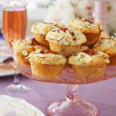 Strawberry Marzipan Muffins