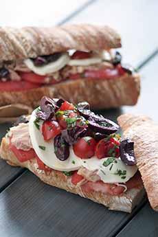 Tuna Caprese Sandwich