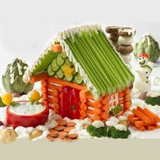 Vegetable Christmas House