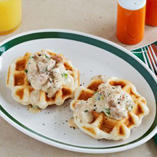Waffled Biscuits & Gravy