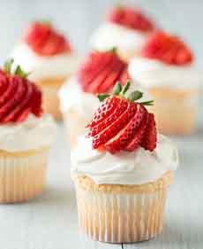 Angel Food Mini Cupcakes