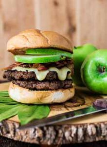 Apple Bacon Brie Burger
