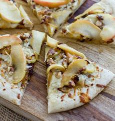 Apple Walnut Pizza