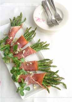 Ham & Asparagus Rolls With Blue Cheese