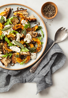 Winter Panzanella Salad With Squash