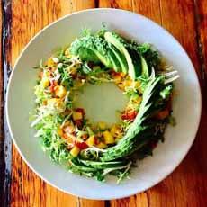 Avocado Mango Circular Salad