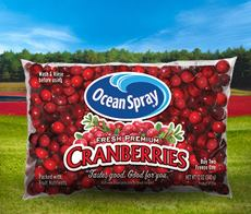 Ocean Spray Cranberries Package