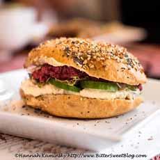 Bagel Hummus Sandwich