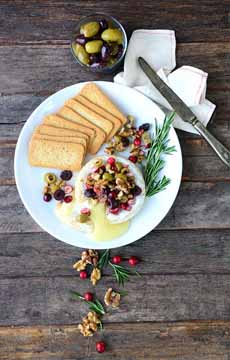 Baked Brie With Olives