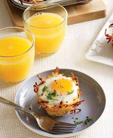 Baked Eggs In Nests