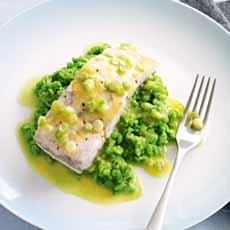 Baked Fish Pureed Peas