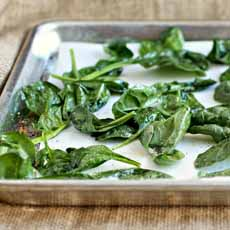 Bake-Fry Spinach Leaves