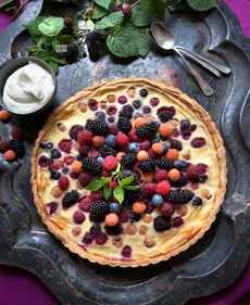 Mixed Berry Clafoutis
