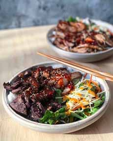 Beef Teriyaki With Salad